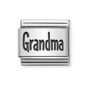 Classic Silver Grandma Charm