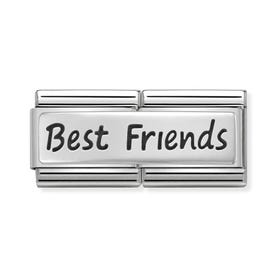 Classic Silver Best Friends Double Charm