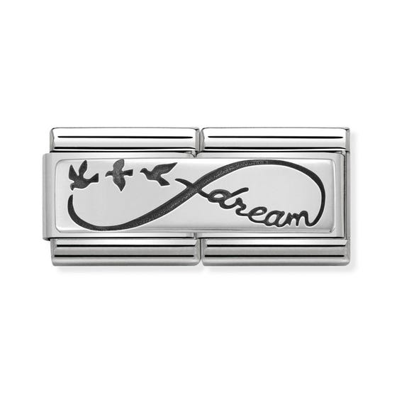 Classic Silver Infinity Dream Double Charm