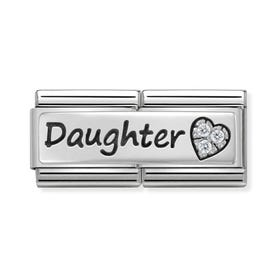 Classic Silver Daughter Double Charm