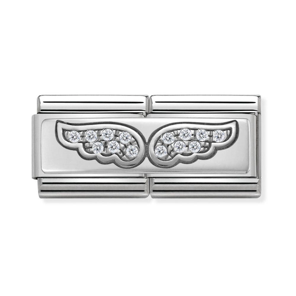 Nomination Classic Silver Angel Wings Double Charm ba3b62ea45
