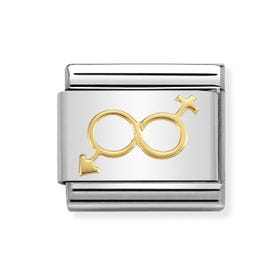 Classic Gold Him & Her Infinity Charm