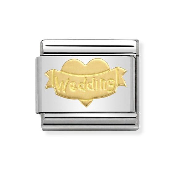 Classic Gold Wedding Heart Charm