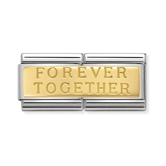 Classic Gold Forever Together Double Charm