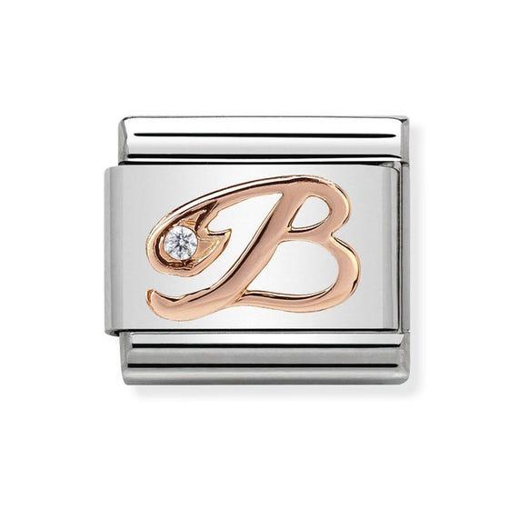 Classic Rose Gold Letter B Charm