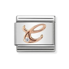 Classic Rose Gold Letter C Charm