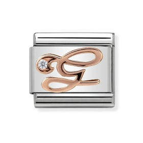 Classic Rose Gold Letter G Charm
