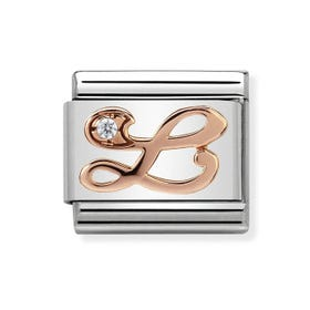 Classic Rose Gold Letter L Charm
