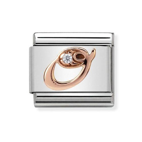 Classic Rose Gold Letter O Charm