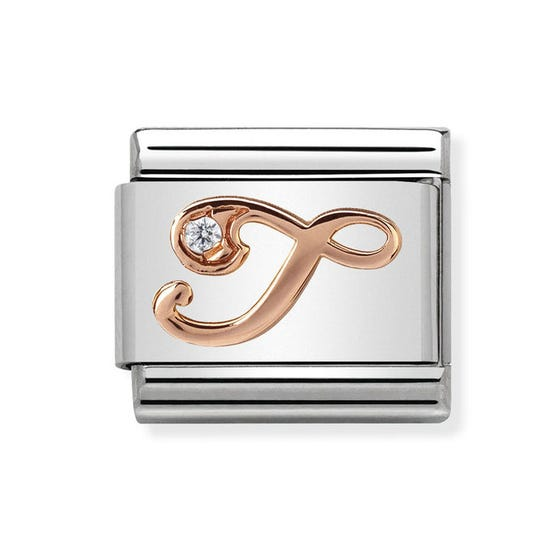 Classic Rose Gold Letter T Charm