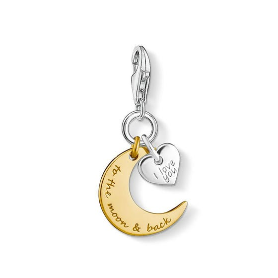 I love you to the moon & back' Charm