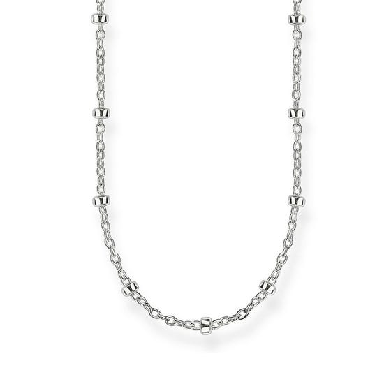 Silver Karma Beads Necklace