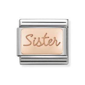 Classic Rose Gold Sister Charm