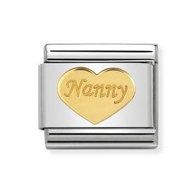 Classic Gold Nanny Heart Charm