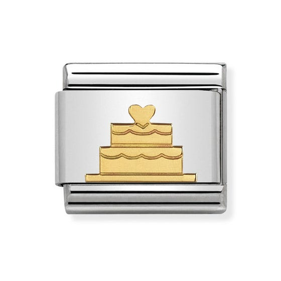 Classic Gold Tiered Cake Charm