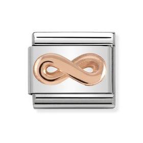 Classic Rose Gold Infinity Symbol Charm