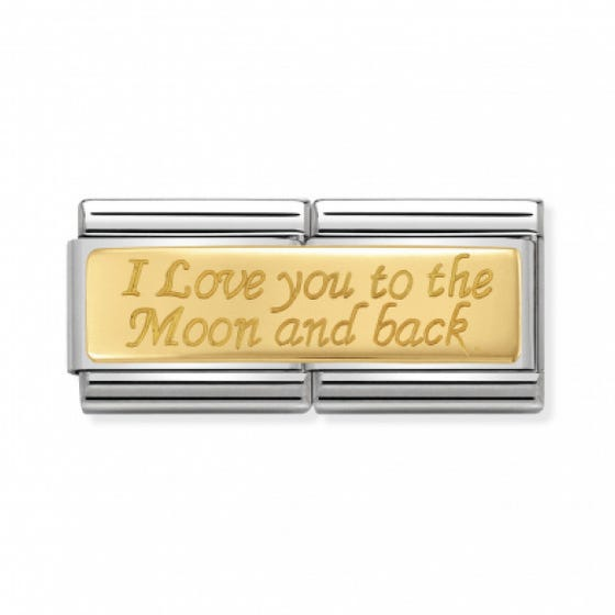 """Classic Gold """"To the moon and back"""" Double Charm"""