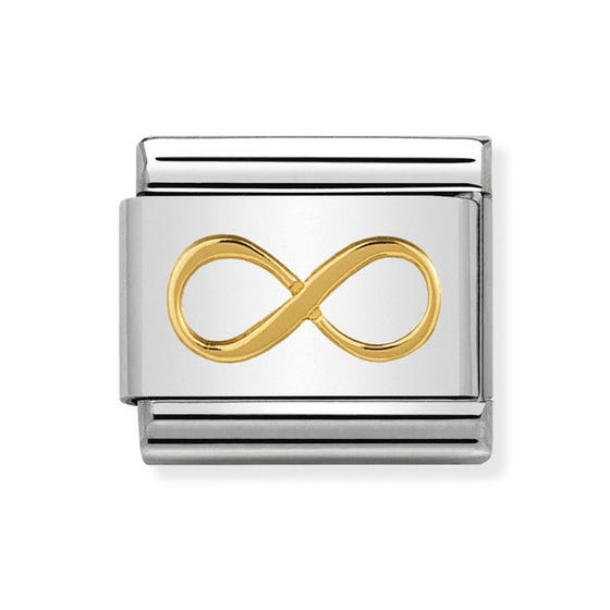 Classic Gold Infinity Symbol Charm