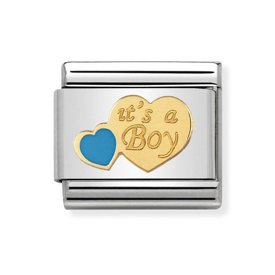 "Classic Gold ""it's a boy"" Charm"