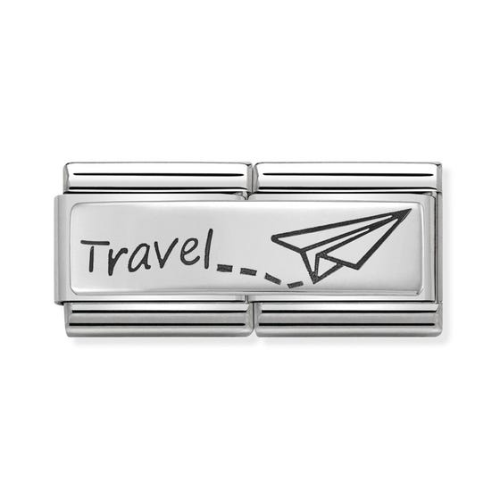 Classic Silver Travel Double Charm