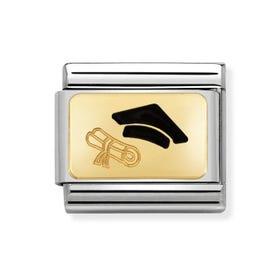 Classic Gold Graduation Cap Charm