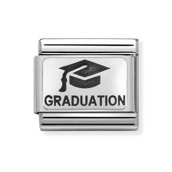 Classic Silver Graduation Cap Charm