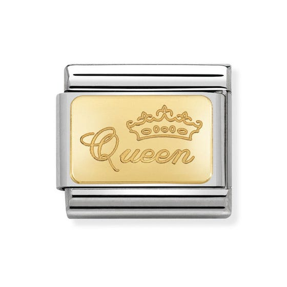 Classic Gold Queen Charm