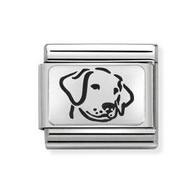 Classic Silver Dog Charm