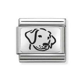 Classic Silver Dog Charm