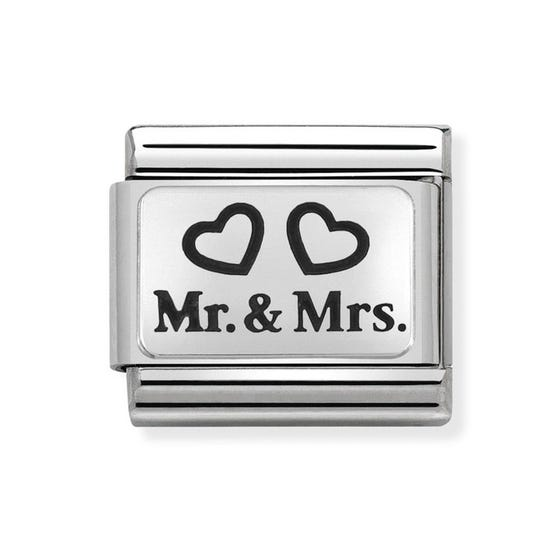 Classic Silver Mr & Mrs Charm