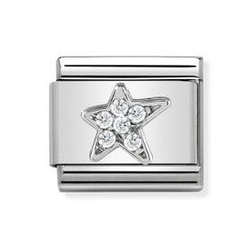Classic Silver Asymmetric Star Charm
