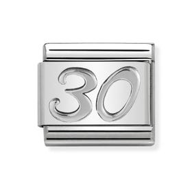 "Classic Silver ""30"" Charm"