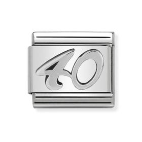 "Classic Silver ""40"" Charm"