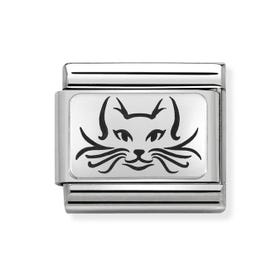 Classic Silver Cat Charm
