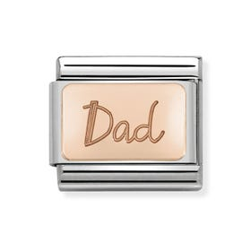Classic Rose Gold Dad Charm