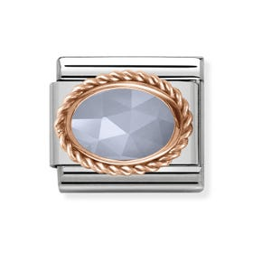 Classic Rose Gold Agate Charm