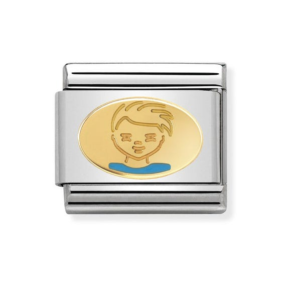 Classic Gold Little Boy Charm