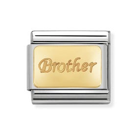 Classic Gold Brother Charm