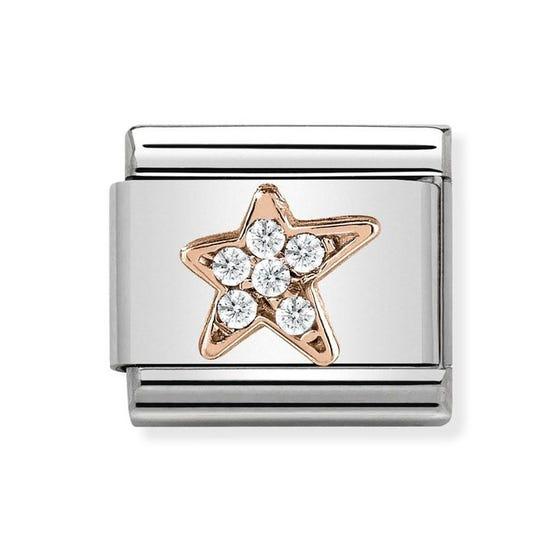 Classic Rose Gold Asymmetric Star Charm