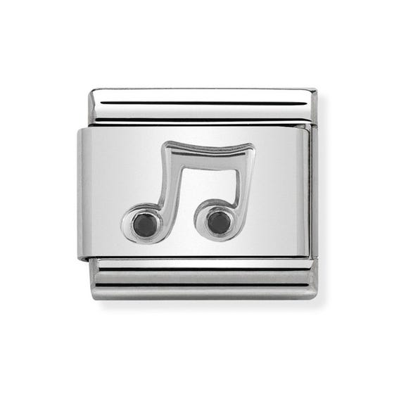 Classic Silver Music Note Charm