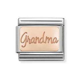 Classic Rose Gold Grandma Charm