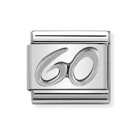 "Classic Silver ""60"" Charm"