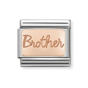 Classic Rose Gold Brother Charm