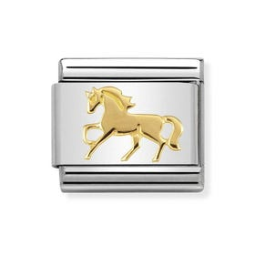 Classic Gold Galloping Horse Charm