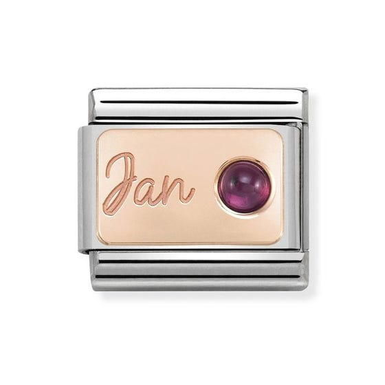 Classic Rose Gold January Birthstone Charm