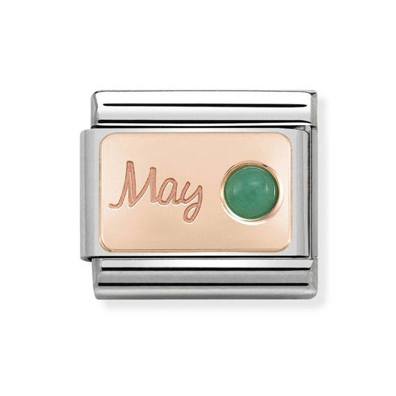 Classic Rose Gold May Birthstone Charm
