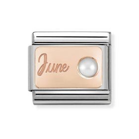 Classic Rose Gold June Birthstone Charm