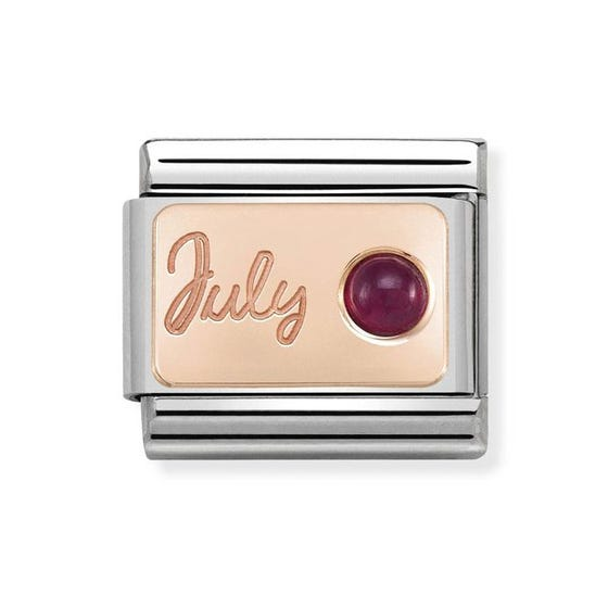 Classic Rose Gold July Birthstone Charm
