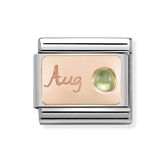Classic Rose Gold August Birthstone Charm