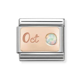 Classic Rose Gold October Birthstone Charm